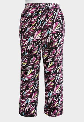 Plus Size Dancing Plumes Palazzo Pants | Tuggl
