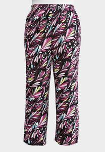 Plus Size Dancing Plumes Palazzo Pants