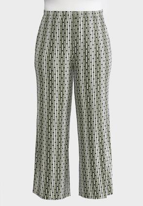 Plus Size Dot Striped Palazzo Pants | Tuggl