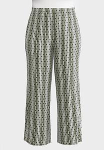 Plus Size Dot Striped Palazzo Pants