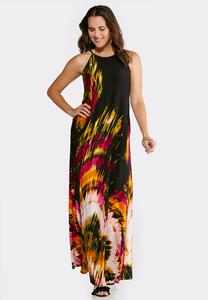 Plus Petite Color Explosion Maxi Dress
