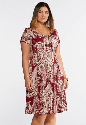 Plus Size Seamed Spring Bloom Dress | Tuggl