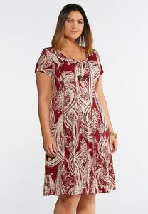Plus Size Seamed Spring Bloom Dress
