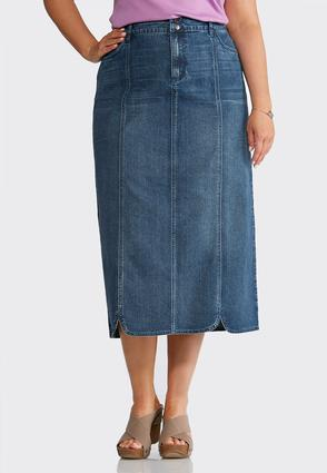 Plus Size Seamed Denim Skirt at Cato in Philadelphia, PA | Tuggl