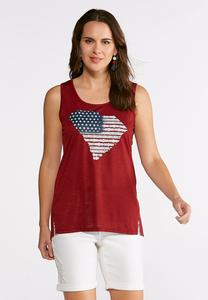 Plus Size Americana South Carolina State Tank