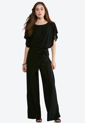 Plus Size Kimono Sleeve Jumpsuit | Tuggl