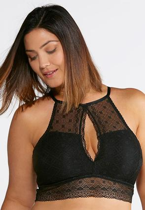 Plus Size Lace Keyhole Bralette at Cato in Brooklyn, NY | Tuggl