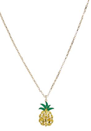 Sparkling Pineapple Pendant Necklace | Tuggl