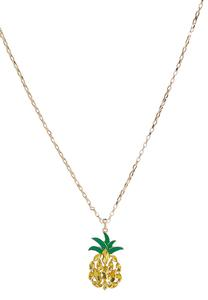 Sparkling Pineapple Pendant Necklace