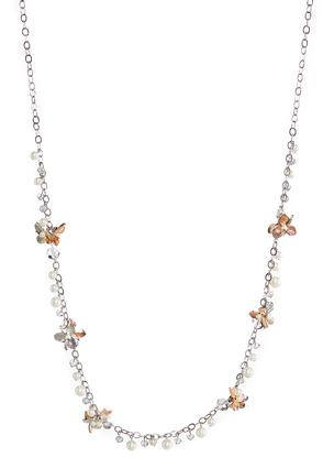 Single Shaky Pearl Flower Necklace | Tuggl
