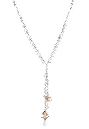 Pearl Flower Lariat Necklace | Tuggl