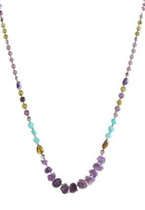 Semi Precious Multi Color Beaded Necklace