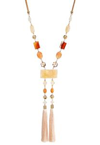 Double Tassel Ladder Necklace