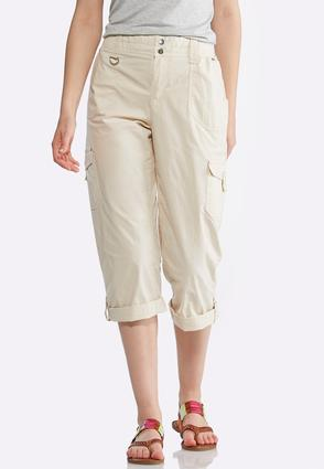 Poplin Utility Crop Pants | Tuggl