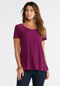 Criss Cross Tie Grommet Top