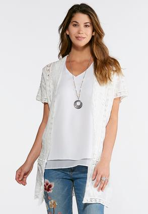 Plus Size Embroidered Lace Kimono | Tuggl