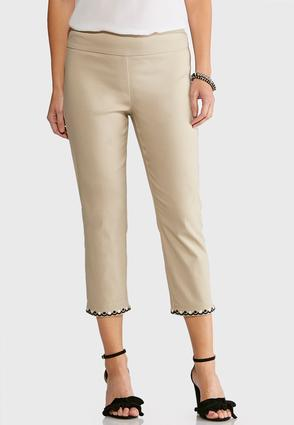 Embroidered Hem Cropped Pants at Cato in Brooklyn, NY | Tuggl