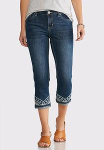 Cropped Turn-Up Hem Jeans