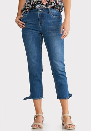 Cropped Tie Hem Jeans at Cato in Brooklyn, NY | Tuggl