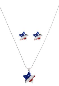 American Stars Necklace Set