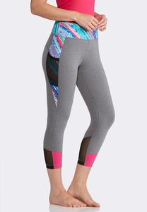Cropped Multicolored Leggings