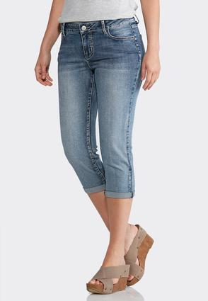 Cropped Silver Stitch Jeans