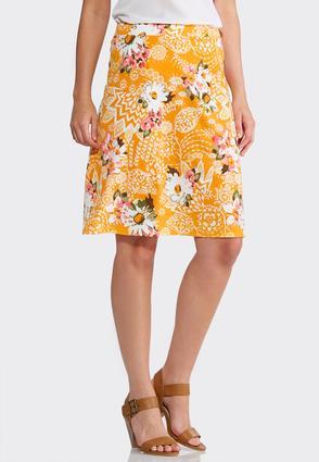 Bright Floral Skirt | Tuggl