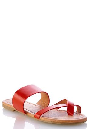 Cross Band Toe Loop Sandals | Tuggl