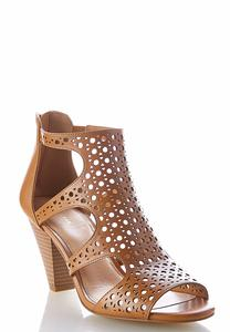 Laser Cut Cone Heel Shooties