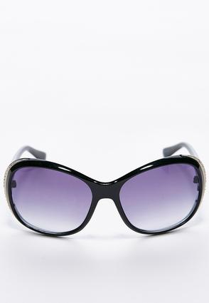 Embellished Rim Round Sunglasses   Tuggl