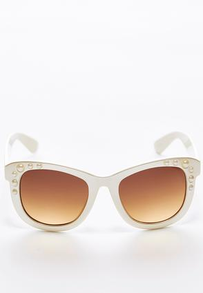 Faux Pearl Ivory Sunglasses