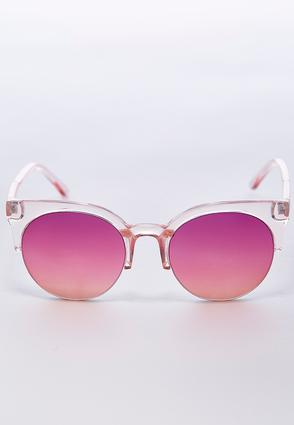 Pink Tint Round Sunglasses | Tuggl