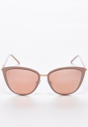 Enamel Bordered Cateye Sunglasses | Tuggl