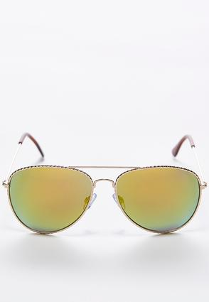 Twisted Rim Aviator Sunglasses | Tuggl