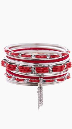 Beaded Bangle Bracelet Set | Tuggl