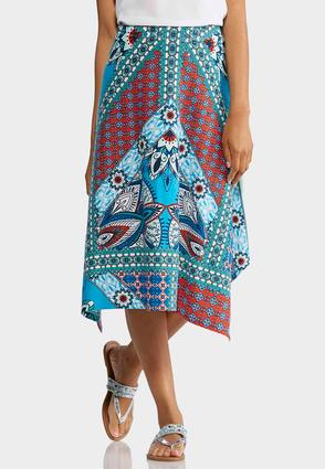 Plus Size Sedona Patchwork Hanky Hem Skirt at Cato in Sparta, TN | Tuggl