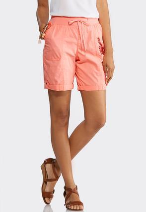 Tonal Embroidered Shorts | Tuggl