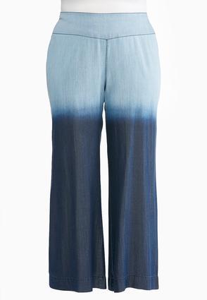 Plus Size Wide Leg Ombre Pants | Tuggl
