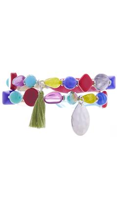 Colorful Bead Stretch Bracelet Set | Tuggl