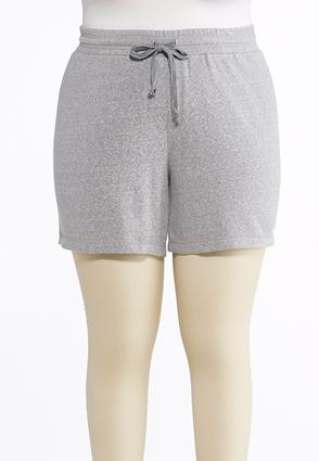 Plus Size French Terry Shorts   Tuggl
