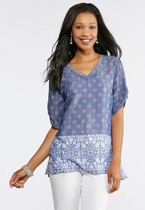 Blue Sunshine Pullover Top