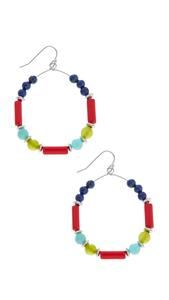 Colorful Mixed Bead Hoops