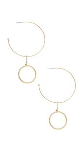 Dangling Textured Circle Hoops