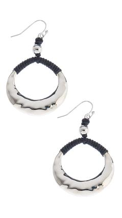 Dangling Corded Oval Hoops