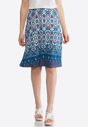 Plus Size Vine Floral Skirt at Cato in Sparta, TN | Tuggl