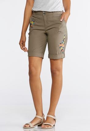 Embroidered Bermuda Shorts | Tuggl