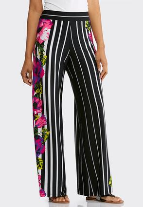 Orchid Stripe Palazzo Pants at Cato in Brooklyn, NY | Tuggl