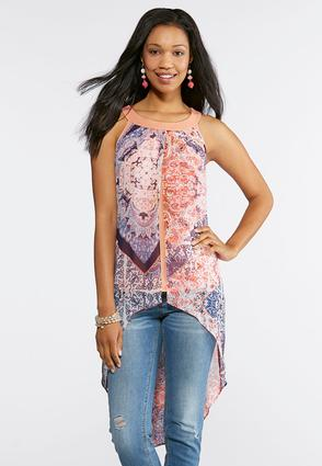 High- Low Flyaway Top