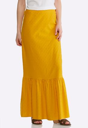 Dotted Flounced Maxi Skirt | Tuggl