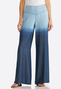 Wide Leg Ombre Pants